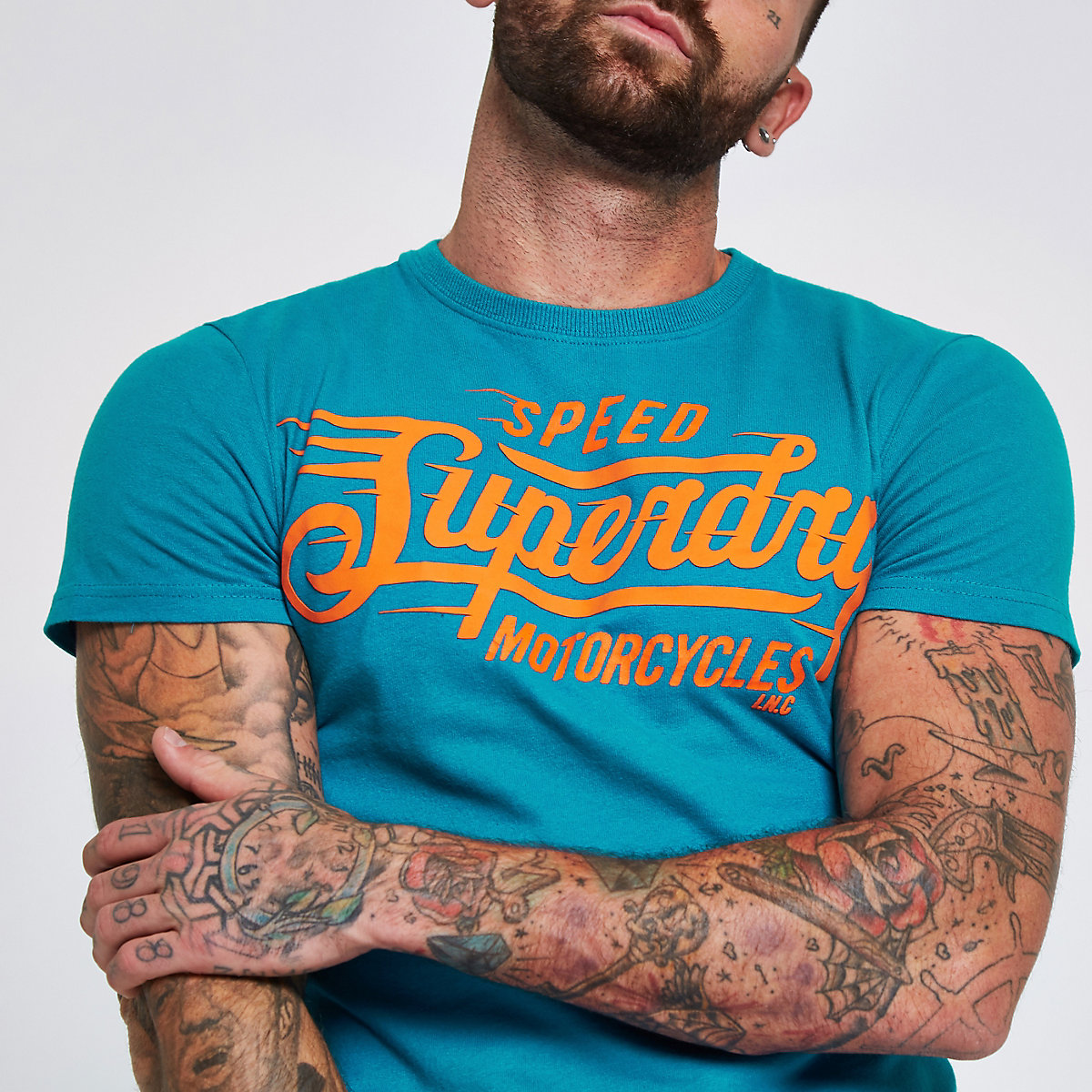 Superdry blue crew neck T-shirt