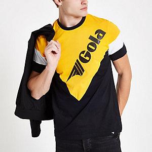 Gola – Schwarzes T-Shirt in Blockfarben