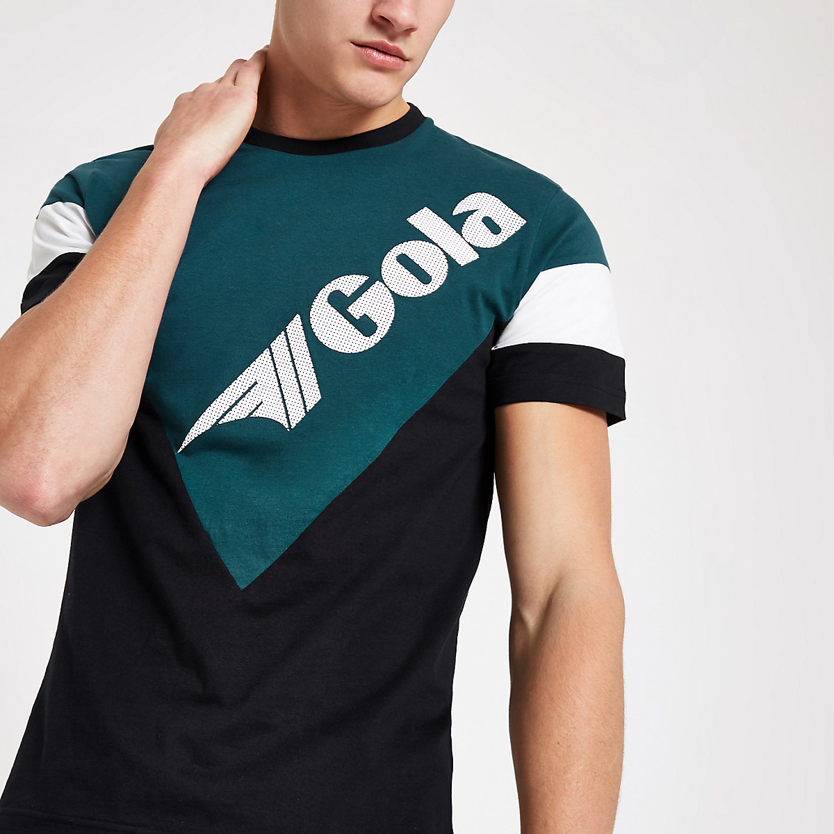 Gola navy colour block T-shirt