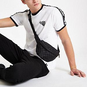 Gola – T-shirt ras-du-cou blanc à bordure