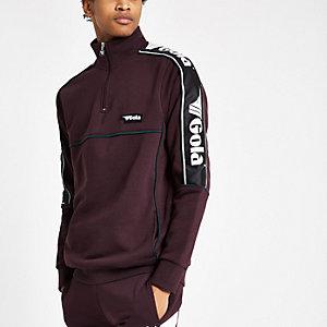 Gola – Dunkelrotes Sweatshirt mit Tunnelkragen