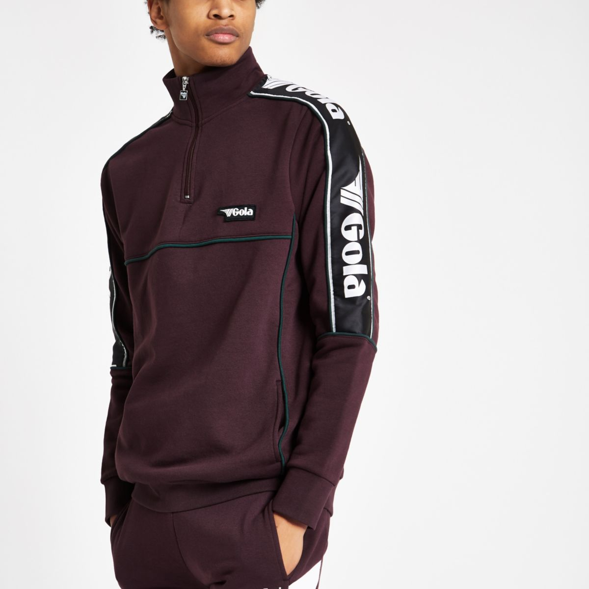 Gola dark red funnel neck jumper