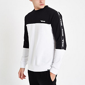 Gola white colour block sweatshirt