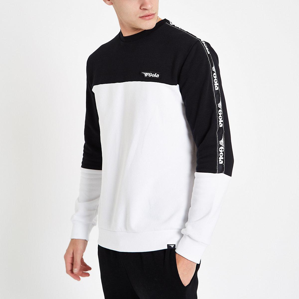 Gola white colour block sweatshirt