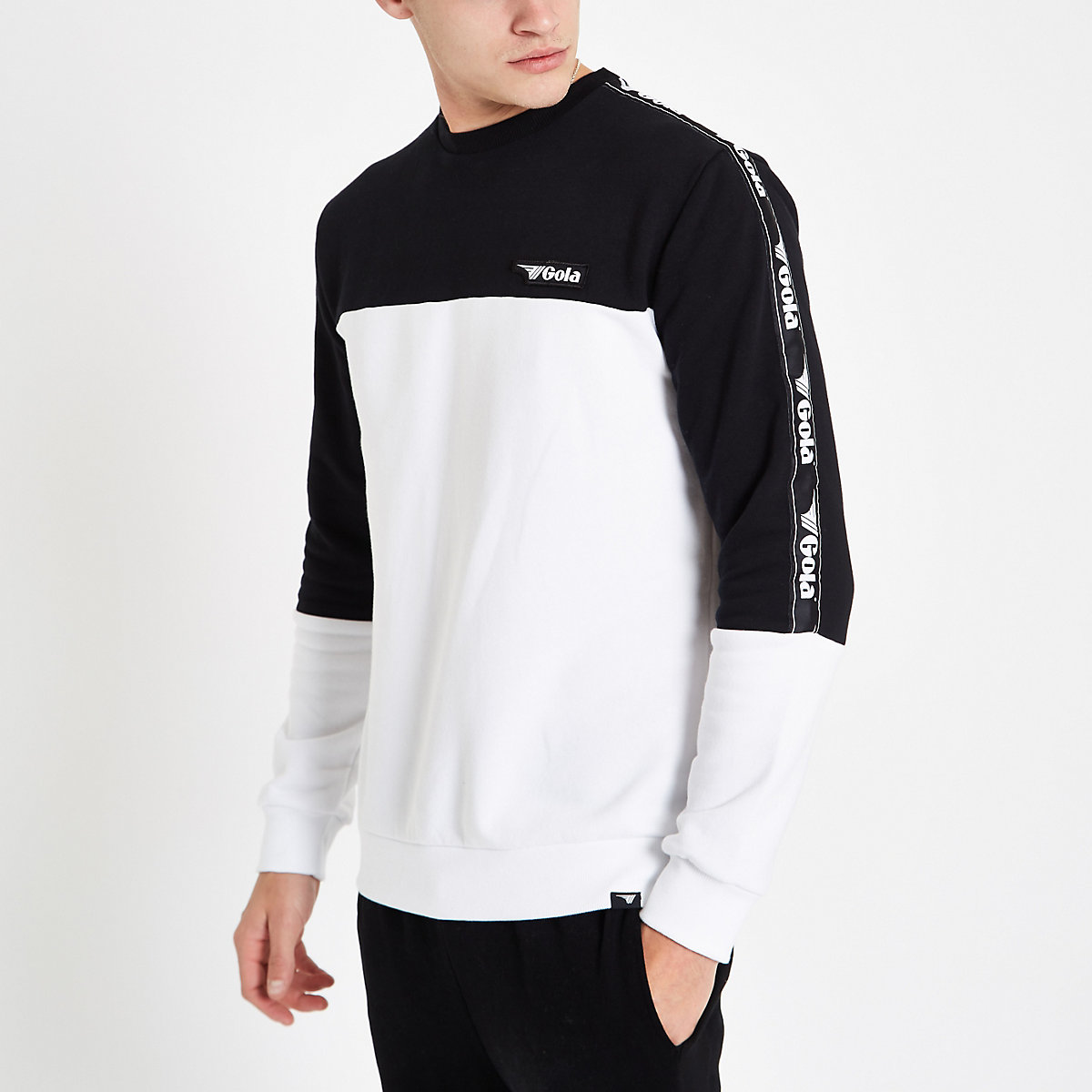 Gola white color block sweatshirt