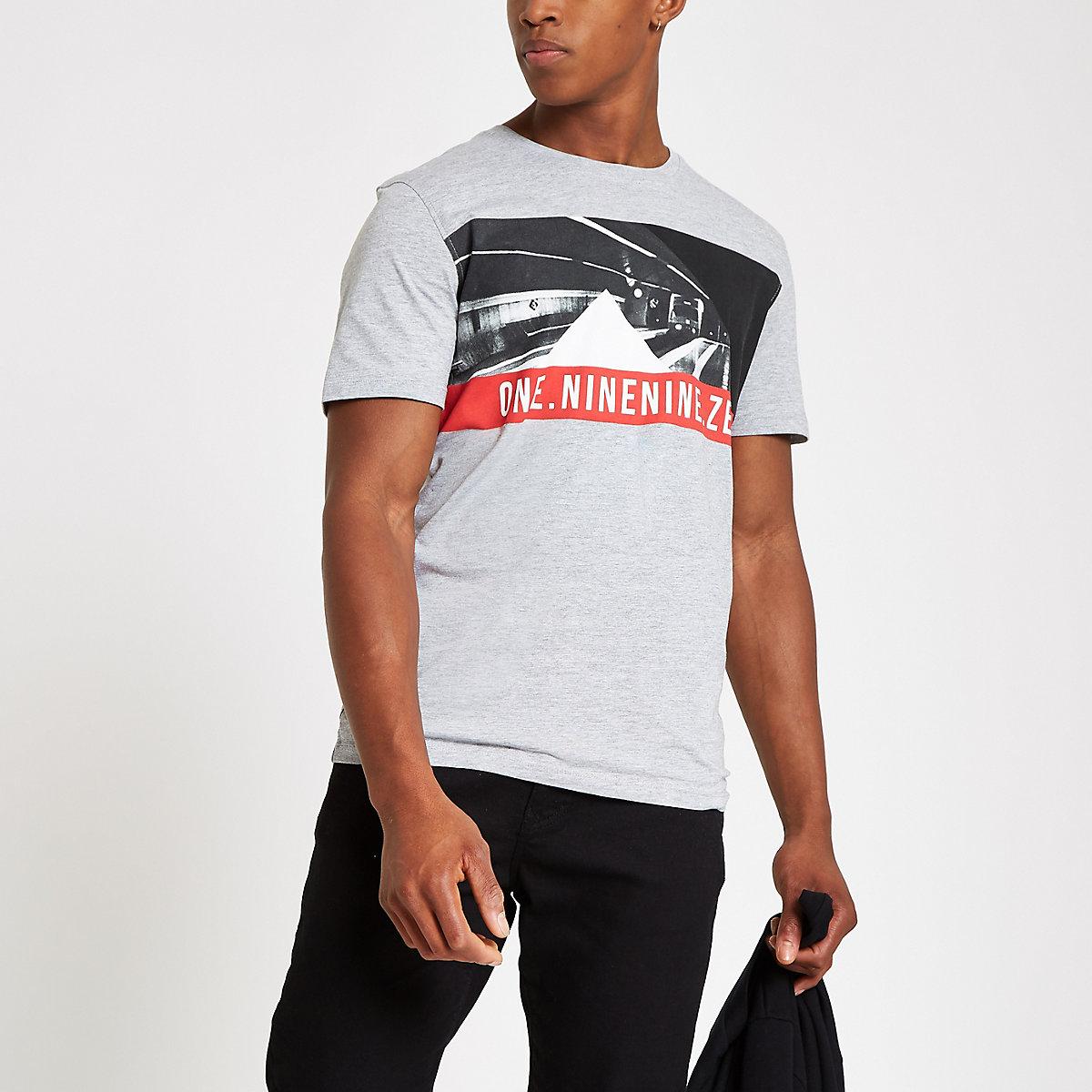 Jack & Jones grey crew neck T-shirt