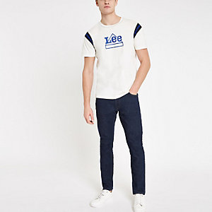 Lee - Blauwe smaltoelopende slim-fit jeans