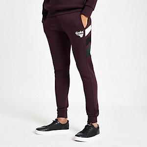Gola – Pantalon de jogging rouge foncé