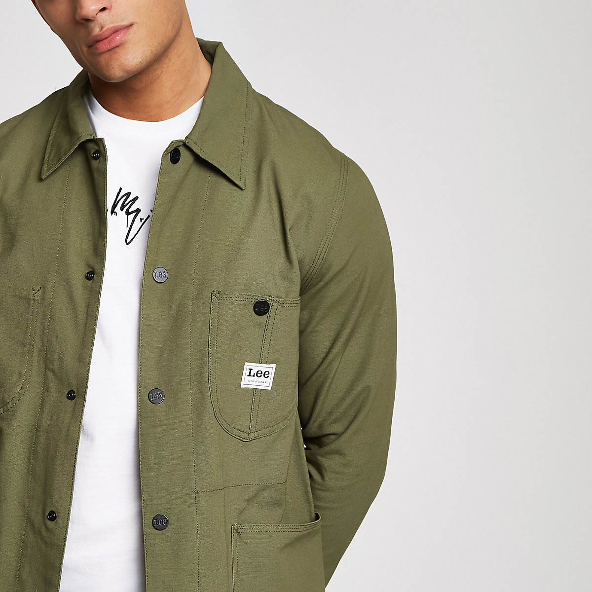 Lee dark green loco jacket