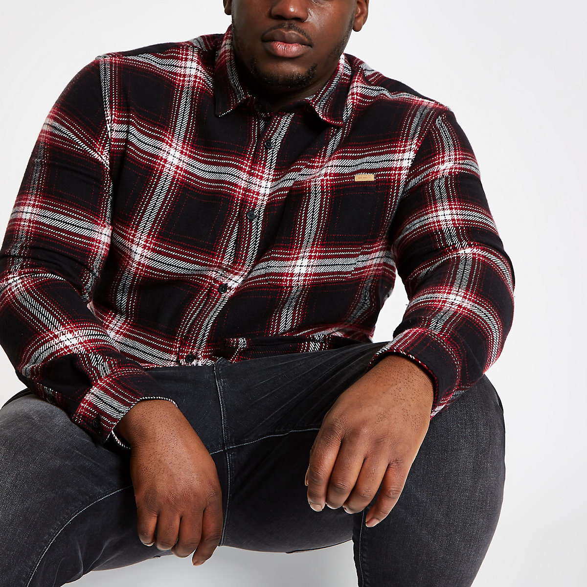 Only & Sons Big and Tall check shirt