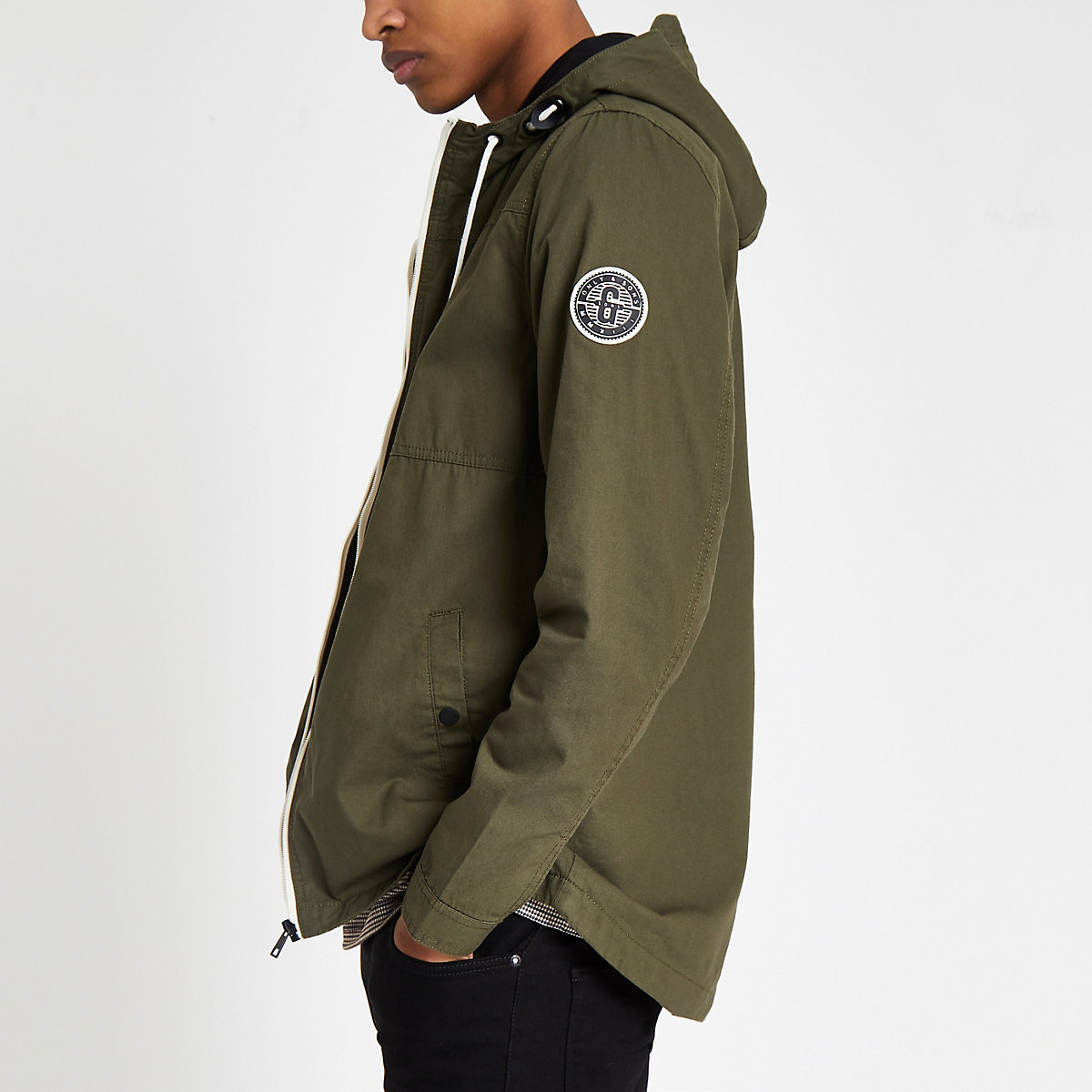 Only & Sons khaki lightweight Absjorn jacket