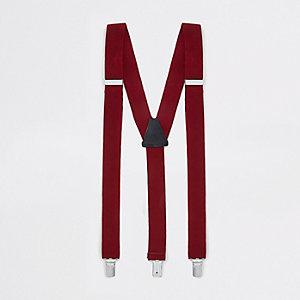 Bretelles rouges texturées