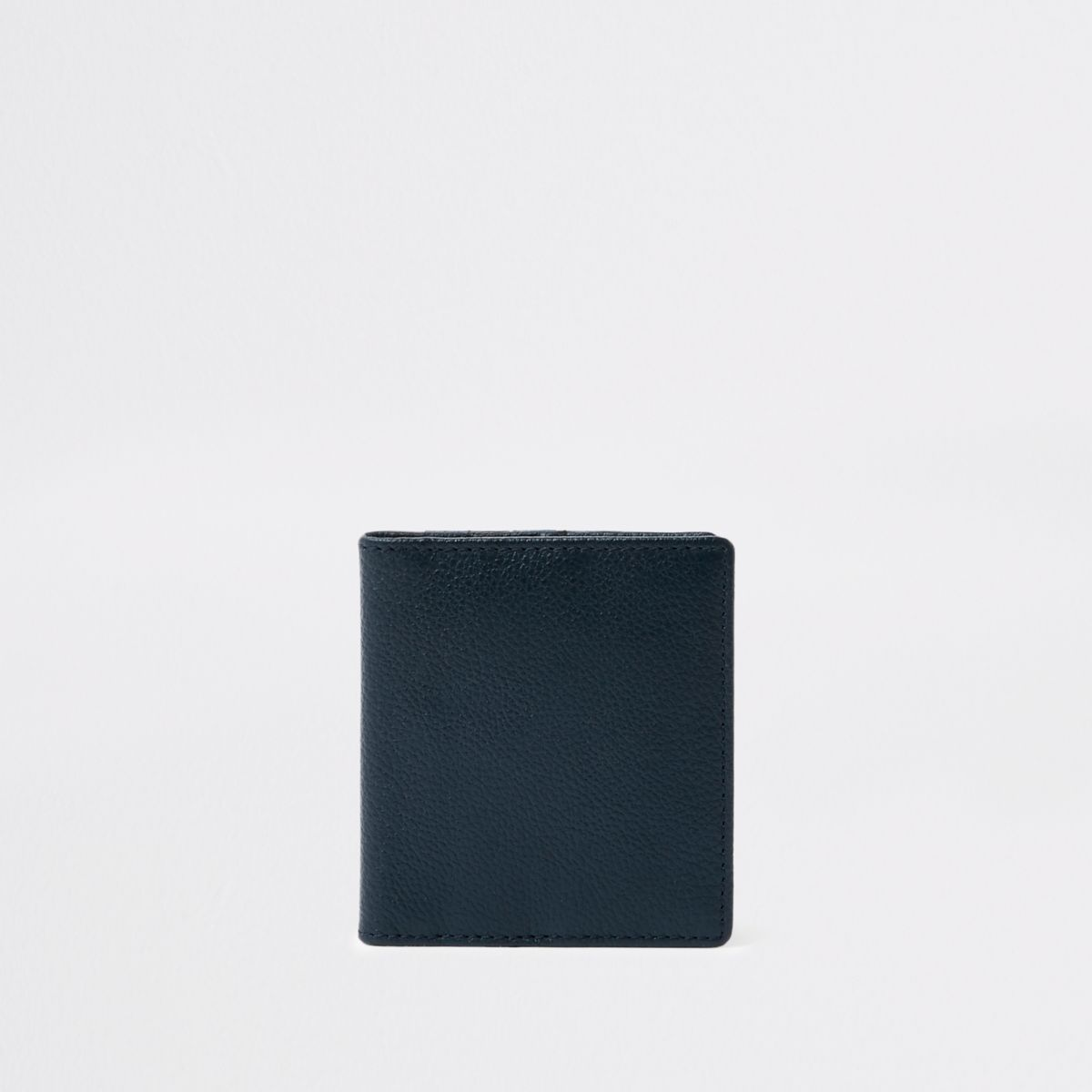 Navy leather fold out card holder