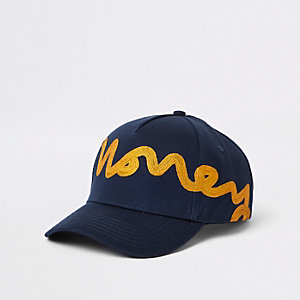 Money Clothing navy snapback cap