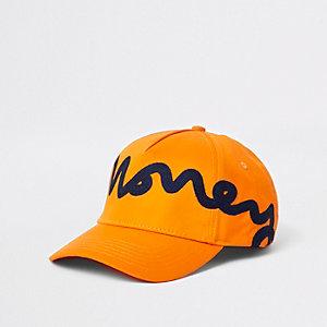 Money Clothing orange snapback cap