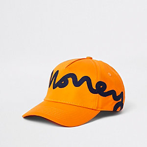 Money Clothing – Casquette orange à bride arrière