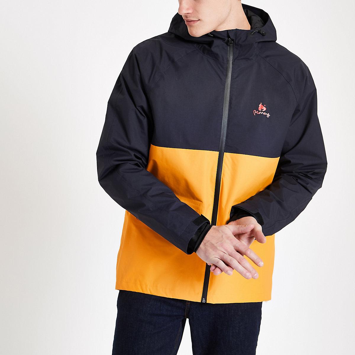 Money Clothing navy block panel anorak jacket