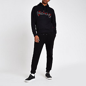Money Clothing black logo print hoodie