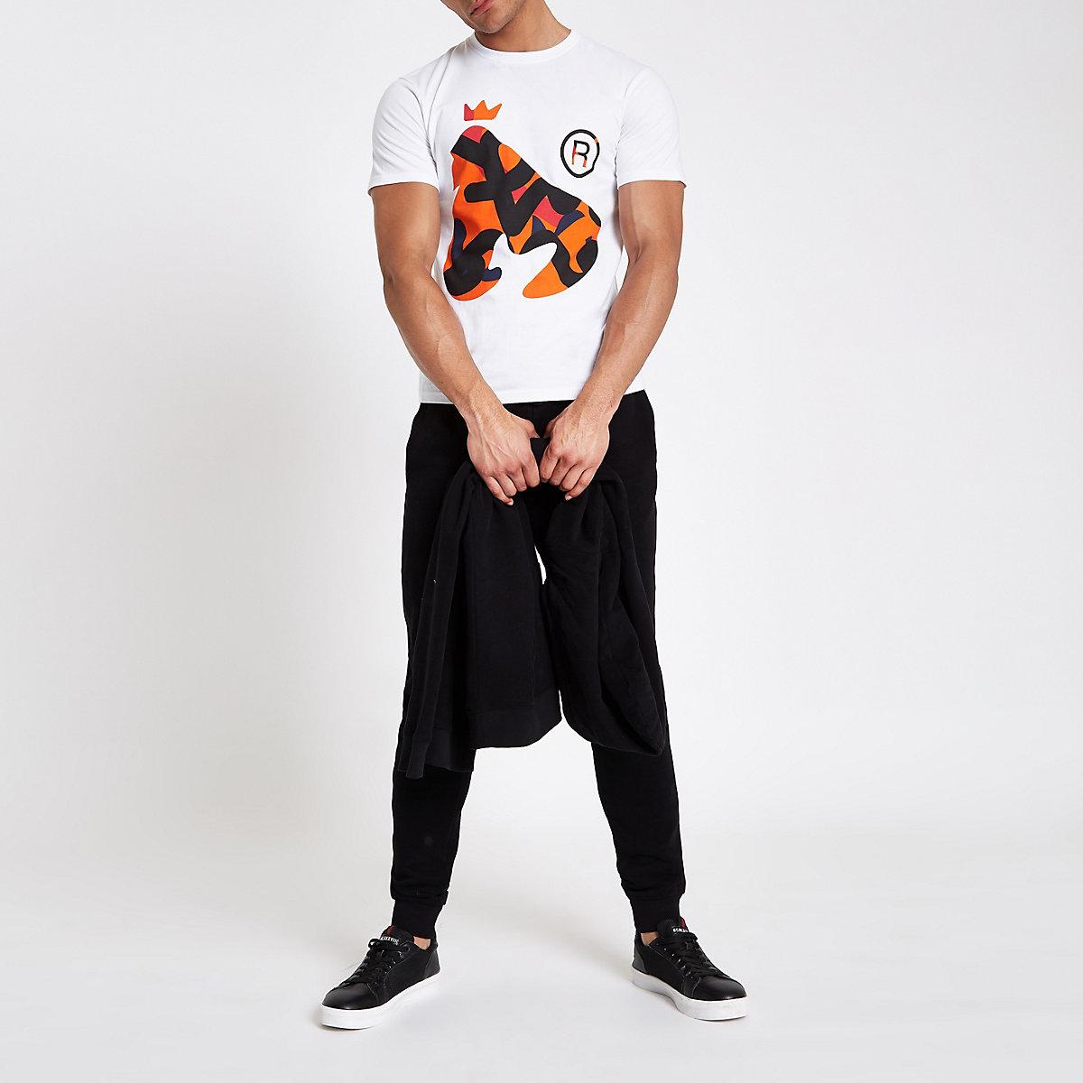 Money Clothing white camo logo T-shirt