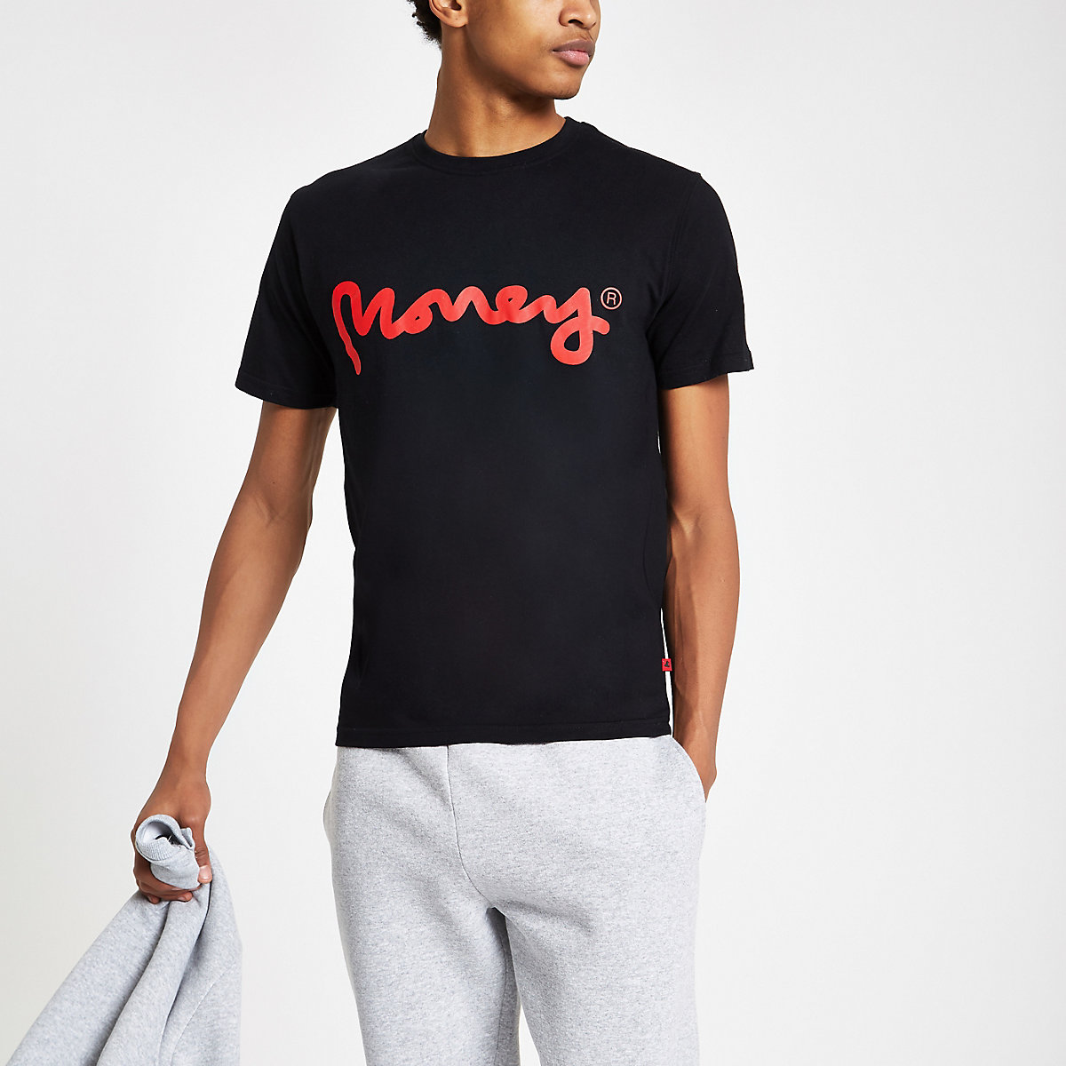 Money Clothing black logo print T-shirt