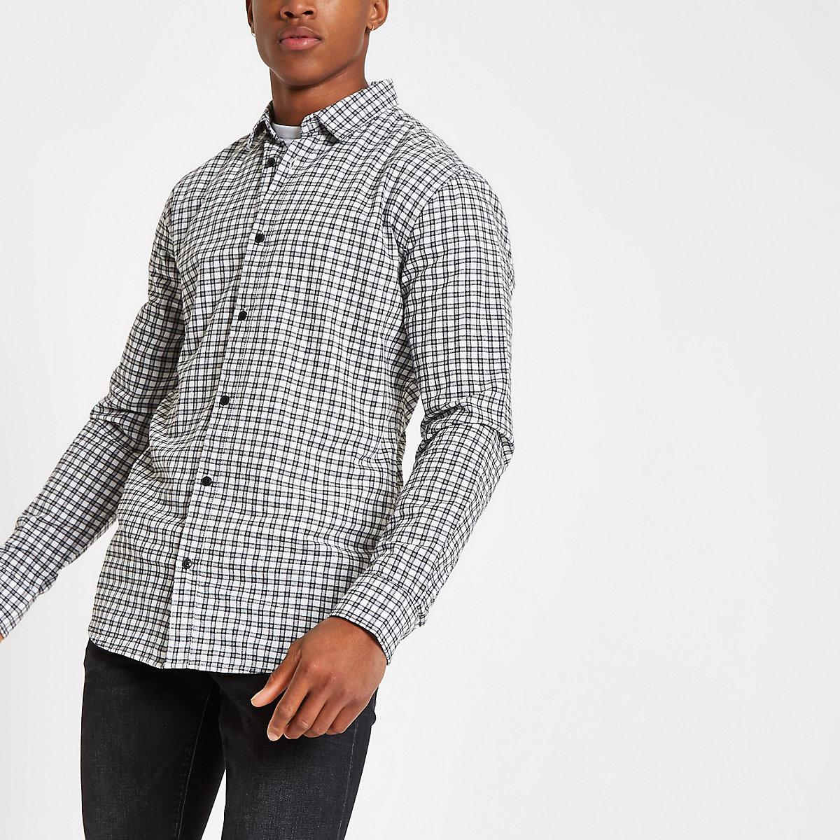 483171f8e9c Only   Sons Tony blue check shirt - Long Sleeve Shirts - Shirts - men