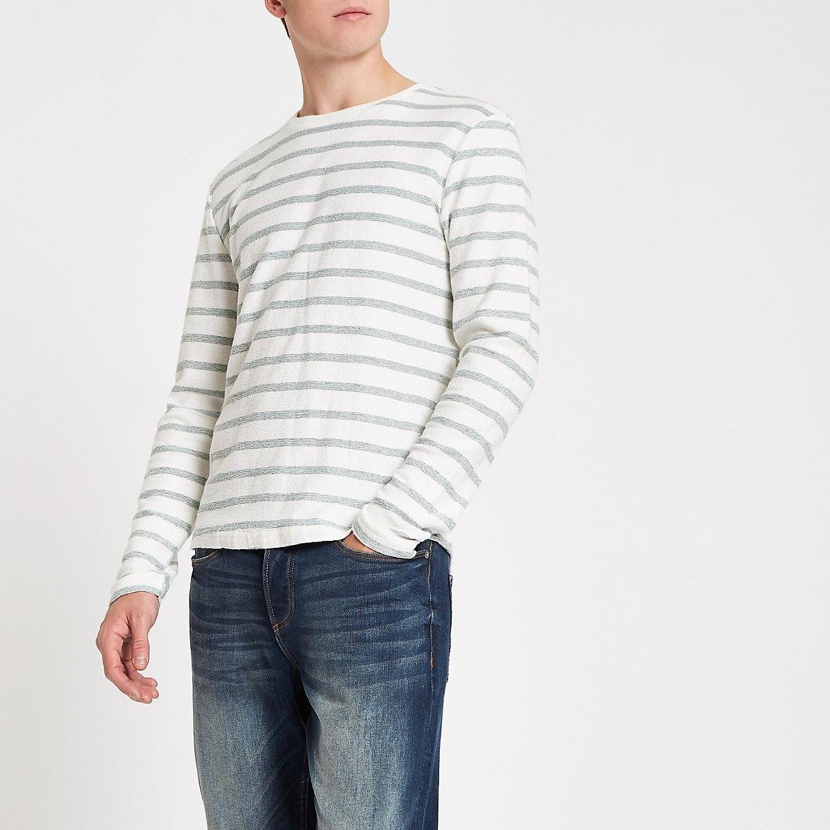 Only & Sons dark green stripe top