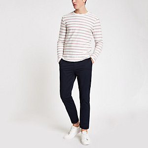 Only & Sons red stripe long sleeve top