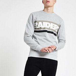 Only & Sons – Sweat NFL « Raiders » gris