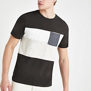 Only & Sons – T-shirt colour block gris