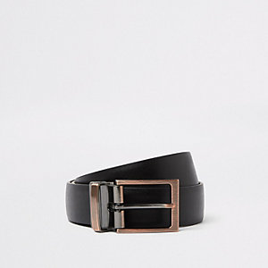 Black reversible buckle belt