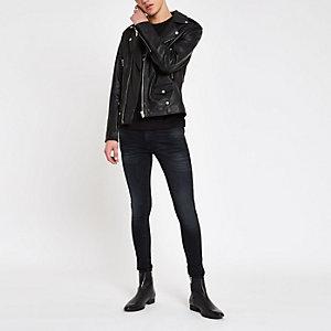 Ollie - Donkerblauwe spray-on superskinny jeans