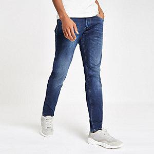 Pepe Jeans - Stanley - Middenblauwe smaltoelopende jeans