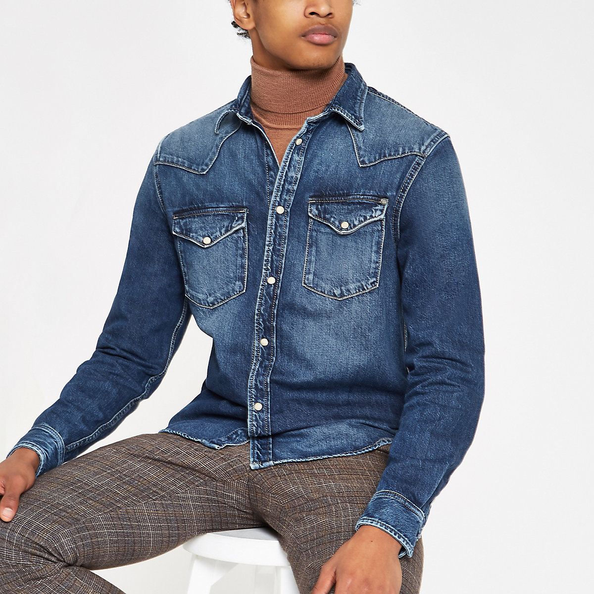 Pepe Jeans blue denim shirt