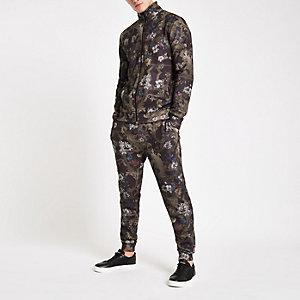 Pantalon de jogging slim à imprimé baroque noir