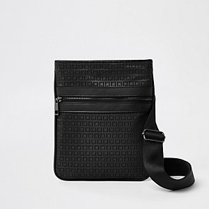 Black RI Monogram flight bag