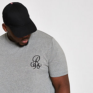 Big and Tall double curve hem T-shirt