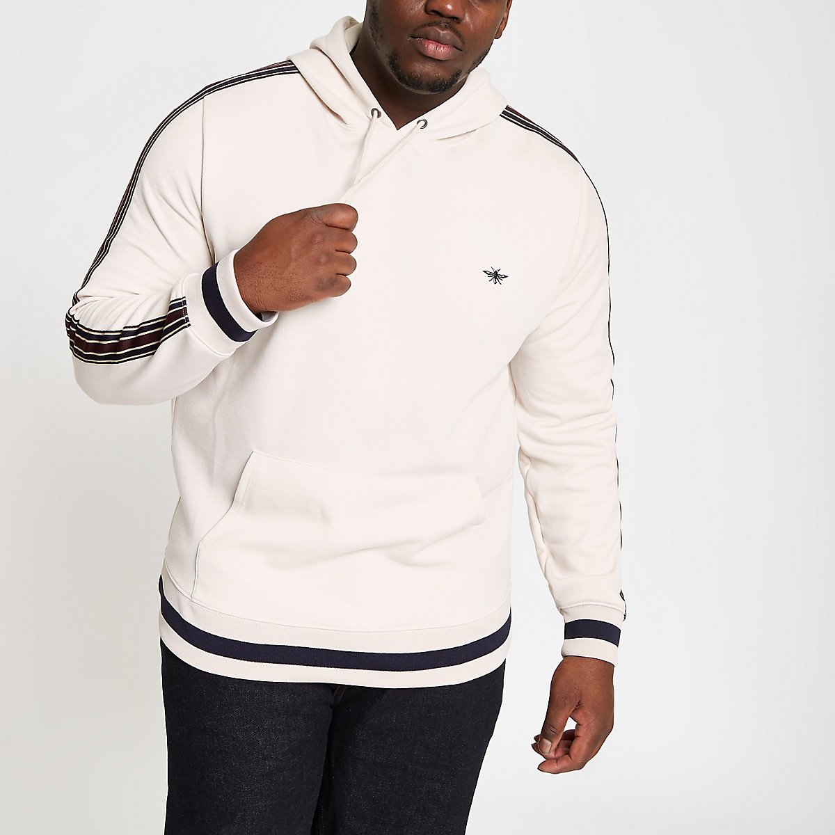 Big and Tall stone tipped hoodie