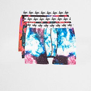 Hype - Multipack paarse boxershorts met galaxyprint