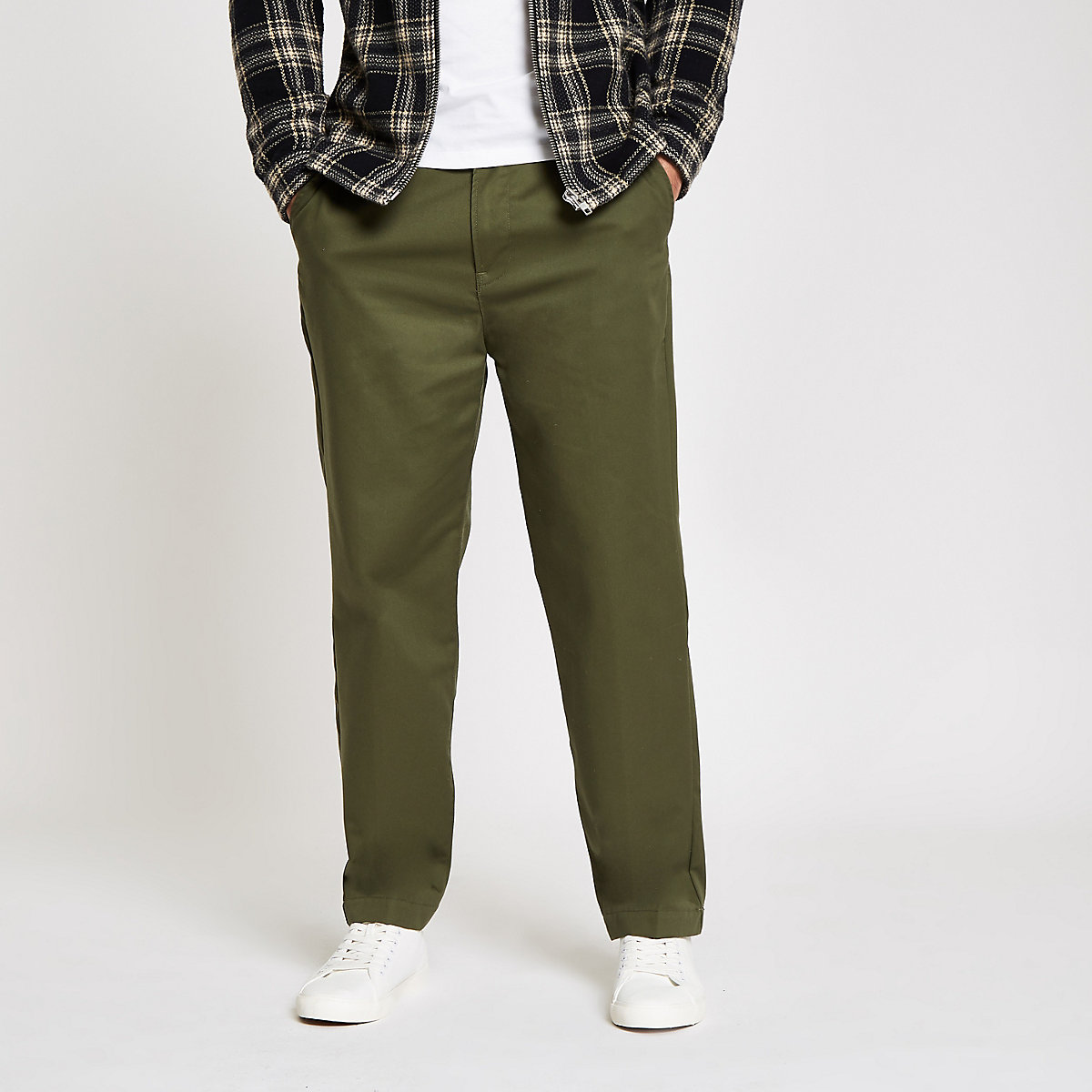 Lee dark green relaxed chino pants