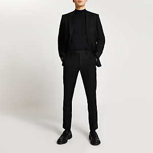 Black skinny fit suit trousers