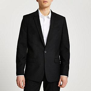 Schwarze Slim Fit Anzugjacke