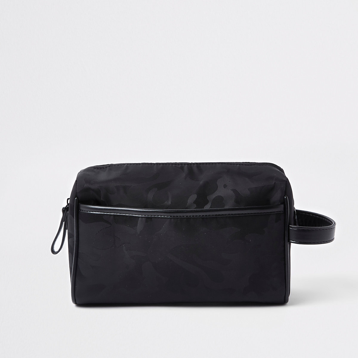 Black camo washbag