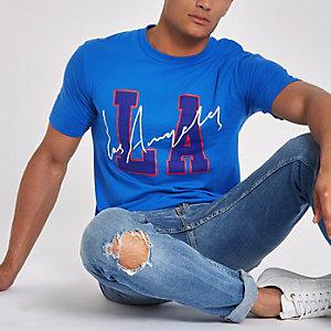 """Blaues T-Shirt """"LA"""""""