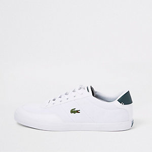 Lacoste white court lace-up trainers