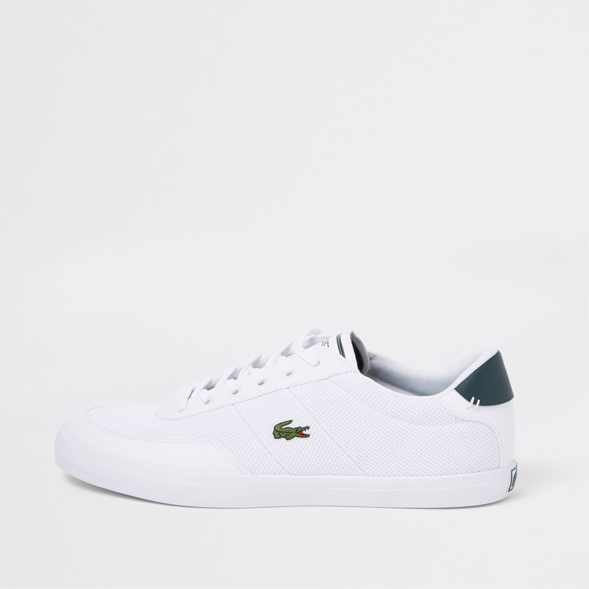 Lacoste white court lace-up sneakers