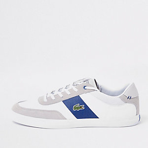 Lacoste grey court lace-up sneakers