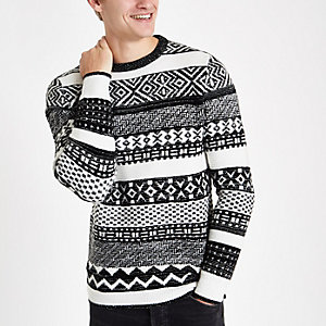 Ecru fairisle Christmas sweater