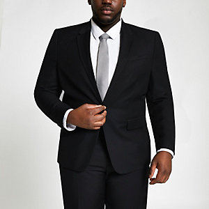 Big and Tall black suit jacket