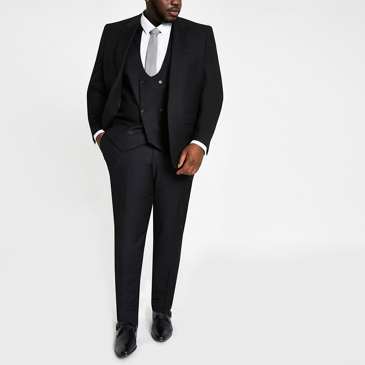 Big and Tall black suit pants