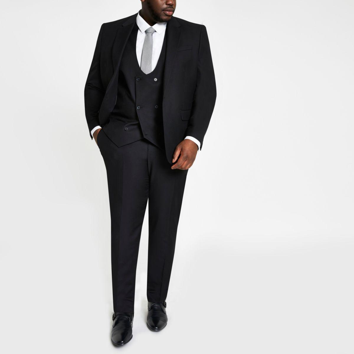 Big and Tall – Pantalon de costume noir